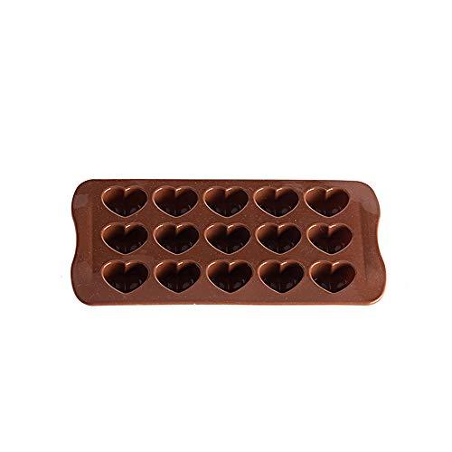Aofocy Herz-Form-Silikon-Schokoladen-Kuchen-Gelee-Süßigkeit-Form