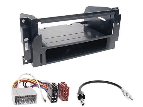 1 Din Radio Einbauset Blende Radioanschlusskabel Antennenadapter für Jeep Patriot (Ohne OEM Navi) 2008-2011