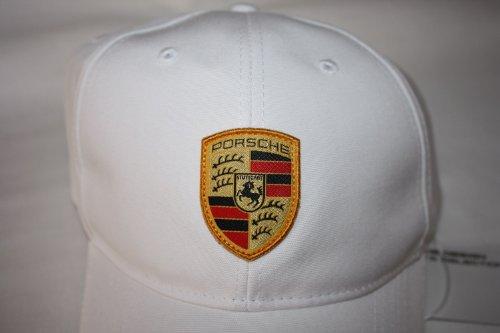 Porsche Cap Mütze weiß mit Wappen