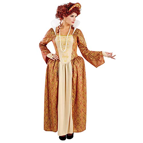 Kostüm Schotte Adult - Fun Shack Damen Costume Kostüm Womens Tudor Queen Gold, m