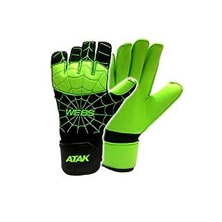 Atak Sports Men's Webs Goalkeeper Gloves, Green, Size 8