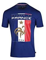 Collection officielle Equipe de France de Football. T-shirt FFF. Taille adulte homme. Matière coton. Produit officiel, sous licence Equipe de France, marque protégée.