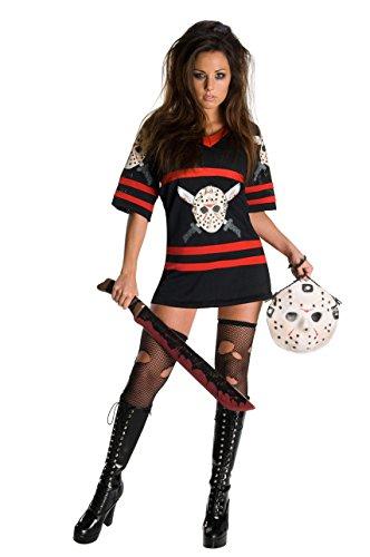 ostüm Damenkostüm Halloween Jason Gr. L, M, S, Größe:XS (Miss Jason Voorhees Halloween Kostüm)