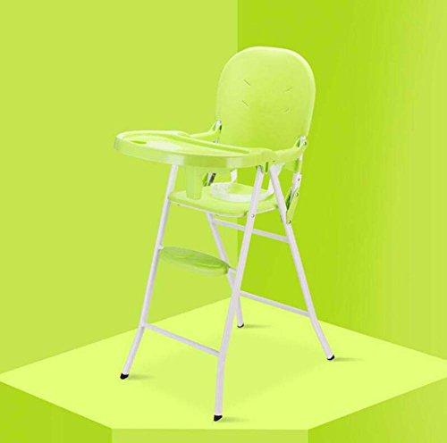 TTrar tragbarer Klappstuhl Portable Baby Hochstuhl, Contempo Hochstuhl, Faltbare Multi-Funktions-Esszimmerstuhl, Esstisch und Stuhl Praktisch und praktisch (Farbe : Grün) -