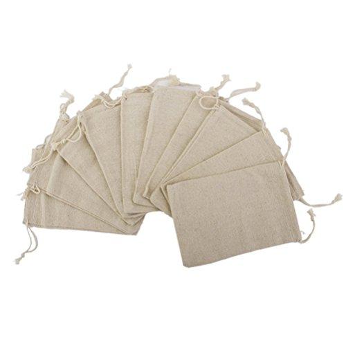 Pixnor 10pcs lino yute lazo regalo bolsas sacos partido