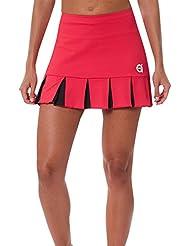 a40grados Sport & Style Feliz - Falda para mujer, color rojo, talla 40