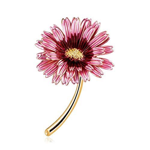Yazilind Frauen Blume Broschen Nette Pflanze Emaille Anstecknadeln Abzeichen Schmuck Geschenke # 2