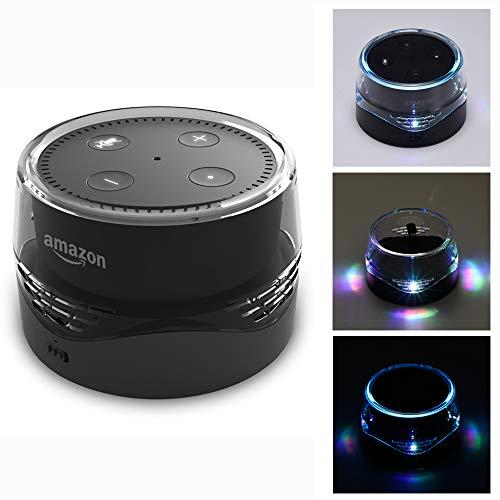 LUXACURY Echo Dot Batterie Basis Batteriestation/Schutzhülle 6000mAh Portable Battey Base Echo Dot 1 2 Powerbank Ladestation Stand mit LED Licht und USB-Anschluss für Handy Aufladen