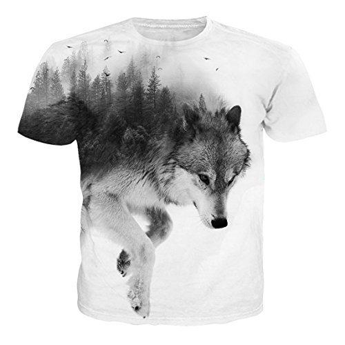 NEWISTAR Unisex 3D Druckten Sommer-beiläufige Kurze Hülsen-T-Shirts T-Stücke XL -