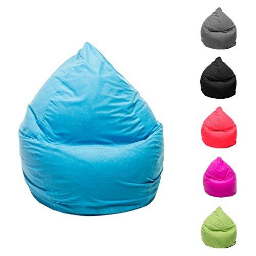 Wohnling XL Sitzsack 220 Liter mit Reißverschluss und separaten Innensack Bean-Bag Bodenkissen