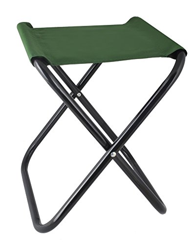 Klapphocker Angelstuhl Camping Klappstuhl Anglerstuhl Falthocker Campinghocker #2264, Farbe:Grün