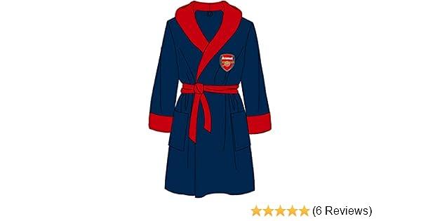 L /& XL M Mens Arsenal Dressing Gown Bathrobe Super Soft Football Robe Size S