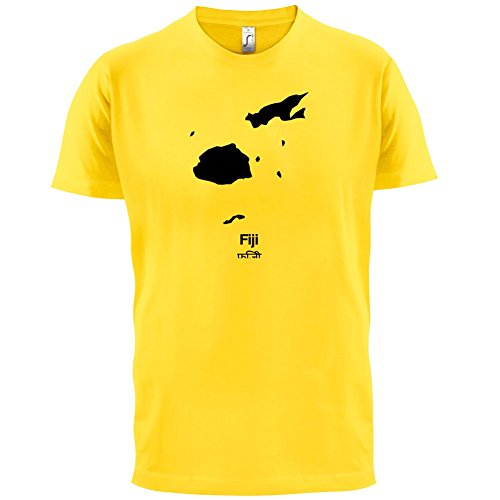 Fiji / Fidschi Silhouette - Herren T-Shirt - 13 Farben Gelb
