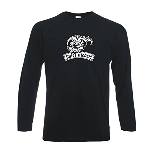 Longsleeve München kniet nieder Ihr Bauern Fan Städteshirt, Herren langarm T-Shirt, bedrucktes Langarmshirt auch große Größen S-6XL (SFU12-31b) Mehrfarbig