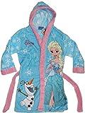 Disney Frozen Die Eiskönigin Mädchen Bademantel mit Kapuze (116, Hellblau)