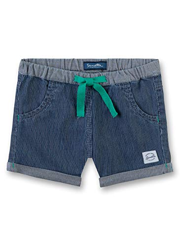 Sanetta Baby - Jungen Shorts Shorts , Blau (Mid Blue 9590) , 80 (Shorts Vintage Jungen)