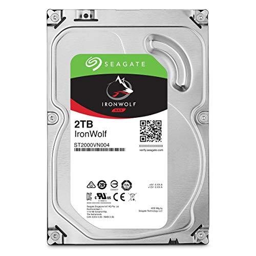 Seagate ST2000VN004 IronWolf Interne Festplatte für NAS-Systeme mit 1 - 8 Bay (3,5 Zoll), 2 TB, silberfarben (Seagate Personal Cloud)