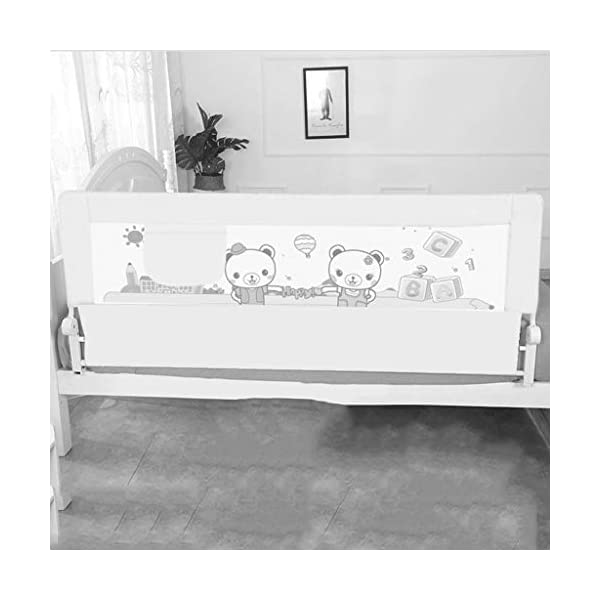 Playpens Crib Guardrail Baby Shatter-resistant Fence Large Bed 1.2-2.0 Meters Children Against Bedside Baffle (color : C, Size : 1.2m) Playpens ★ high quality non-toxic materials,Size:120cm/150cm/180cm/200cm ★ Vertical lift structure: no space is occupied, and it is more convenient to enter and exit. Push the fence down at the push of a button ★ height adjustment: can be adjusted according to the thickness of the mattress, so that the bed is close to the mattress. Avoid gaps between the mattress and the guardrail to prevent your child from falling 5