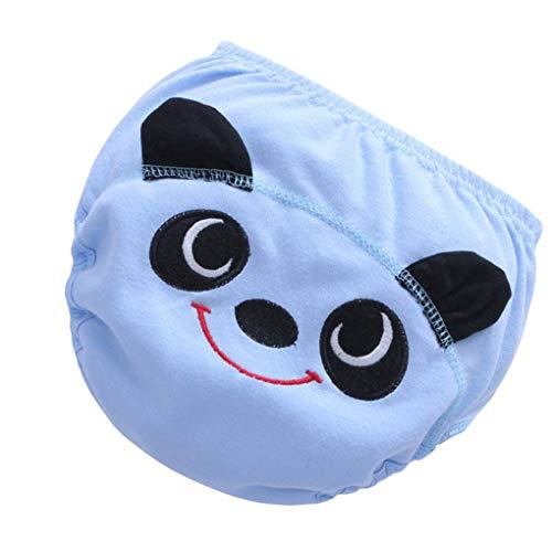 DANDANdianzi Infant Cartoon waschbare Mehrwegwindeln Absorbieren atmungsaktive Baumwolle Stoff-Windel-Baby-Hosen