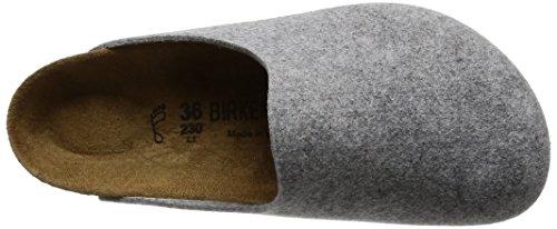 Birkenstock Amsterdam 559123 Unisex - Erwachsene Clogs & Pantoletten aus Birko-Filz Light Grey