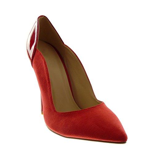 Angkorly - damen Schuhe Pumpe - Stiletto - Patent Stiletto high heel 11 CM Rot