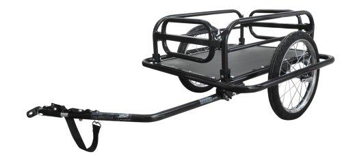 M-Wave Falt-Gepäck-Fahrradanhänger, aus Stahl, max. Zuladung 40 kg, 69x73x18,5 cm