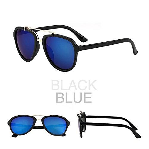 eine sonnenbrille, eine frau mit rundem gesicht, koreanische retro - augen - brillen, sonnenbrillen, die gezeiten, neue runde.,black box blue film (bag)