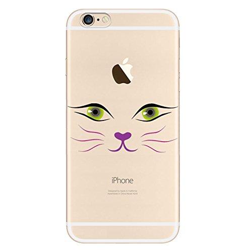 iPhone 66S Housse Coque de protection en silicone TPU souple Ultra adünnen Case pour iPhone 66S Coque Sexy Katzen