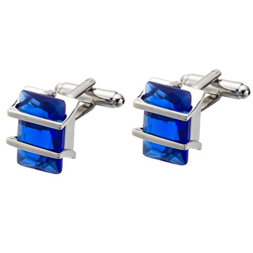 Delicate girl Hohe Qualität Blue Crystal Manschetten Ornament Französischer Shirt Business Sleeve Nagel Manschettenknöpfe Taste (Lila Shirt Manschette Sleeve)
