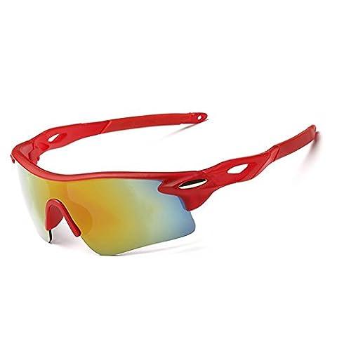 Z-P Fashion Men's Sports Style Riding Driving Windproof Vision Night Ultra Wide Sunglasses 80MM (Alpine Man-kostüm)