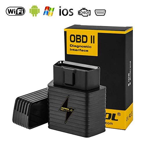 OBD2 Diagnosegerät WIFI ELM327 Adapter WLAN, AUTOOL OBD2 Diagnose Scanner WIFI für iOS iPhone Android Windows KFZ/PKW/AUTO,Code Leser Fehlerspeicher Lesen und Löschen