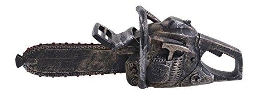 erdbeerclown - Kostüm Accessoire Kettensäge Chainsaw Horror Halloween mit Sound 40 cm, Mehrfarbig