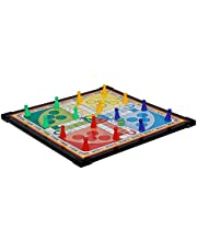 HENCO Wooden Board 12x12 inch Ludo, Snakes & Ladders Multicolor (2 in 1 Games)