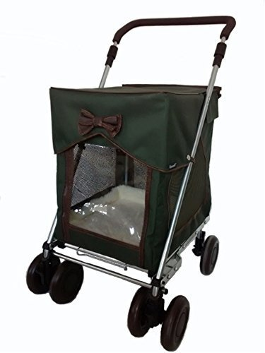 Petmobil (LARGE) Combination Set by Sholley in Three Colours, Folding, Strong & Stable Pet, Dog Stroller, Transporter… 3