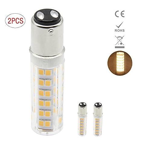 1819 BA15D LED light Bulbs Dimmable 7W Equivalent to 60 Watt Halogen Bulb 220V-240V Warm White(Pack of 2)
