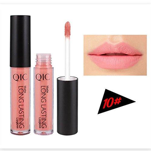 Lippenstift, GreatestPAK Lange andauernd Wasserdichte Lippenflüssigkeit Matt Bleistift Lipgloss
