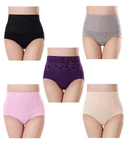 Femme Coton Taille Haute Slips C...