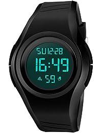 Randon Hombres impermeable deportes electrónicos reloj de pulsera para hombres mujeres y estudiantes Tendencia De Moda multifuncional Casual relojes de pulsera. Negro