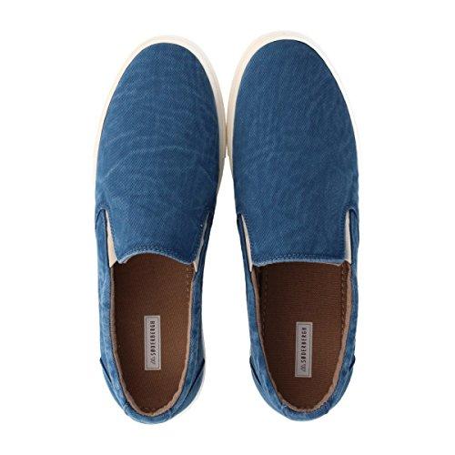 soderbergh hommes de Basse à lacets Chaussures Baskets en aspect jeans jeans noir ou noir Bleu - Bleu
