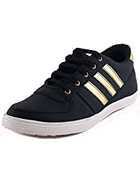 REVOKE Ghost Rider Golden Black Casual Shoes