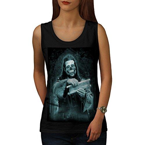 Tod Kirche Rock Schädel Zombie Kunst Damen S-2XL Muskelshirt | Wellcoda Schwarz
