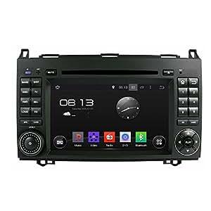 AUTORADIO SPECIFICA CUSTOM FIT 1024 MERCEDES CLASSE A B VITO VIANO W169 ANDROID 4.4.4 GPS BT DVD QUADCORE