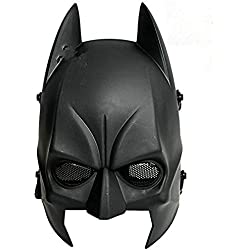 Worldshopping4U tech-p Batman máscara CS Airsoft Wargame Campo Media máscara proteger Ejército Cosplay Máscara Gear