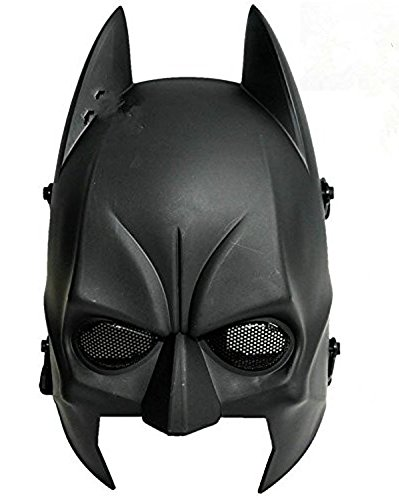 Máscara de Batman para airsoft CS de Worldshopping4U Tech-P, para mitad cabeza, táctica, de Cosplay