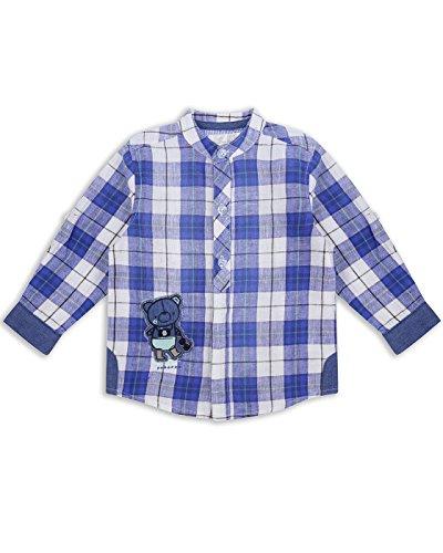 The Essential One - Bebé Infantil Niños Camisa - 12-18 M - Blanco/Azul - EOT194