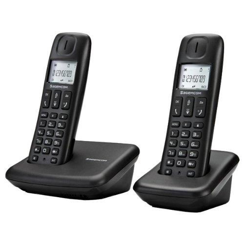 Sagemcom D142DUO - Teléfono inalámbrico con tecnología DECT