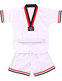 BOZEVON Traje de Taekwondo Artes Marciales Kung Fu Uniformes Ropa De Tai Chi