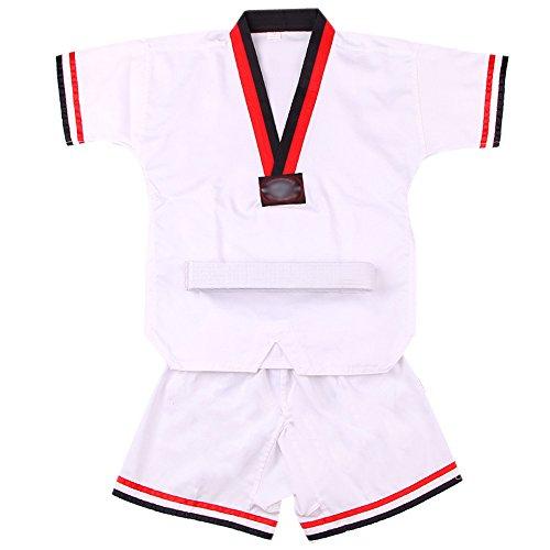 Fuyingda Manche Longue/Manche courte Kimono Taekwondo Karate Judo Song Kung Fu Vêtements Enfant Adulte