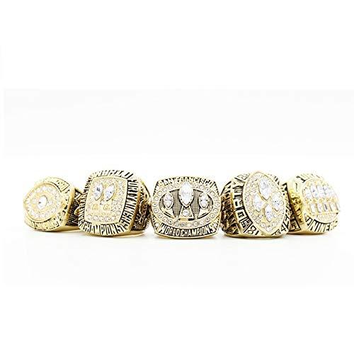 INSTO Ringe Sport Fans Sammlung Ring Herren Hoch Qualität Legierung Ring Champion Ring 5-Teilig Einstellen Dekorativ Ringe/Wie gezeigt / 13ºÅ