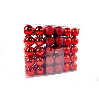 Lifestyle-More-Weihnachtskugeln-Christbaumkugeln-Set-61-teilig-mit-nur-Groen-Kugeln–6-cm-Rot-inklusive-Sternspitze-und-passenden-Anhngern